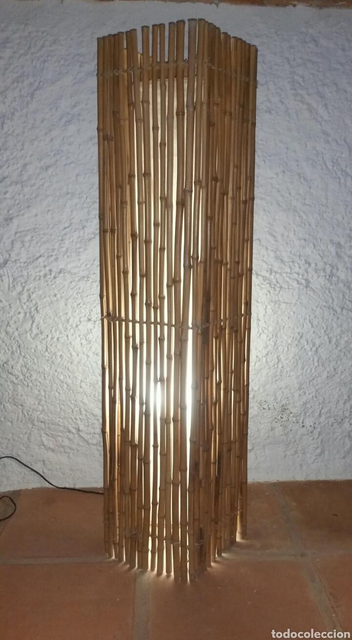 Preciosa l mpara de bamb de pie jardin vintage comprar l mparas vintage apliques - Lampara de pie vintage ...