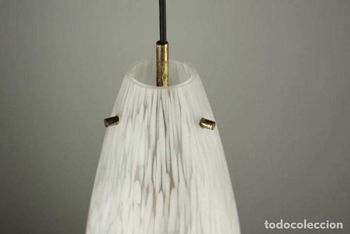 Vintage: lampara techo cristal latón vintage retro España, años 60 - Foto 2 - 86637224