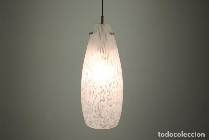Vintage: lampara techo cristal latón vintage retro España, años 60 - Foto 3 - 86637224