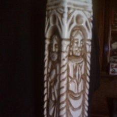 Vintage: ~~MAGNIFICA LAMPARA SOBREMESA CERAMICA DE MANISES, REPRESENTA LOS CUATRO EVANGELISTAS- MIDE 52CM.~~~. Lote 87219320