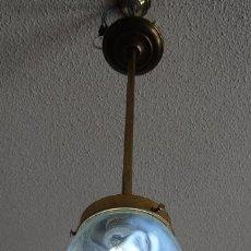 Vintage: LAMPARA DECO VINTAGE. TULIPA GLOBO . FUNCIONAMIENTO.. Lote 87349704