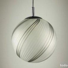 Vintage: LAMPARA TECHO ESPIRAL CRISTAL MURANO CROMADO VINTAGE RETRO 70'S. Lote 87875652