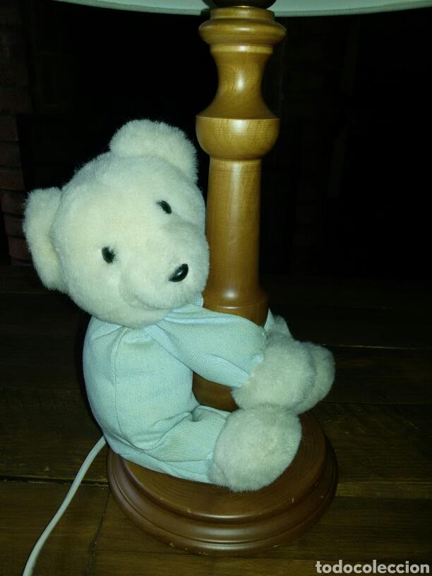 Vintage: Lampara infantil osito pie madera - Foto 3 - 88994340