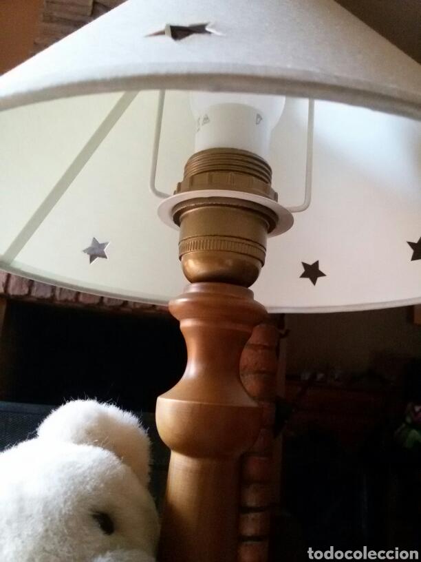 Vintage: Lampara infantil osito pie madera - Foto 4 - 88994340