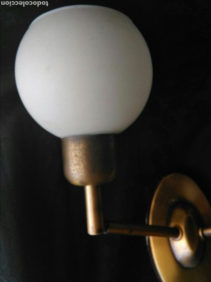 Vintage: Lampara vintage años 70 en laton aplique de dos luces articulables decoración industrial Rockabilly - Foto 3 - 89336127