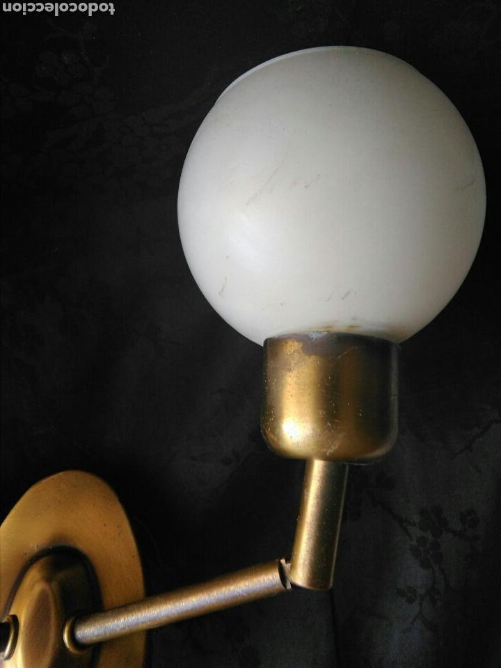 Vintage: Lampara vintage años 70 en laton aplique de dos luces articulables decoración industrial Rockabilly - Foto 4 - 89336127
