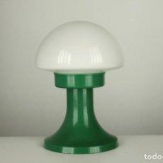 Vintage: LAMPARA SOBREMESA SETA QUIEL GLOBO CRISTAL PLASTICO VERDE VINTAGE RETRO VALENCIA 60'S. Lote 90700495