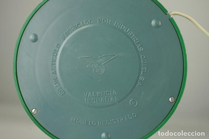 Vintage: lampara sobremesa seta QUIEL globo cristal plastico verde vintage retro Valencia 60's - Foto 3 - 90700495