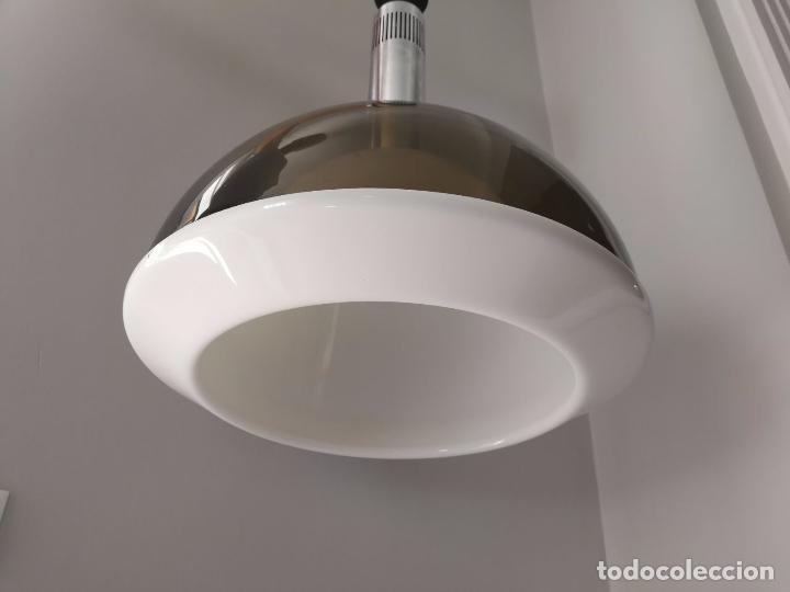 Vintage: MetalArte - Lámpara de techo - Metacrilato- doble campana - Gris blanco y metal - Foto 2 - 91356215