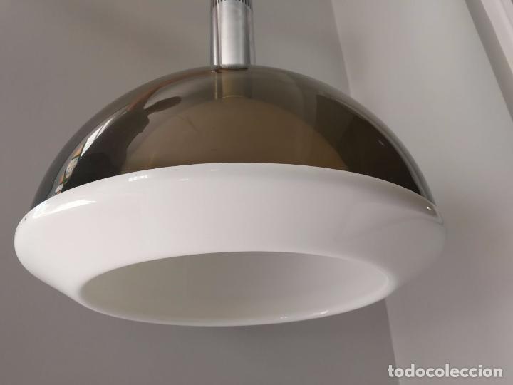 Vintage: MetalArte - Lámpara de techo - Metacrilato- doble campana - Gris blanco y metal - Foto 6 - 91356215