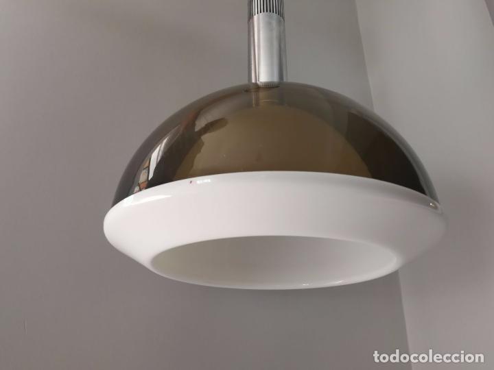 Vintage: MetalArte - Lámpara de techo - Metacrilato- doble campana - Gris blanco y metal - Foto 12 - 91356215