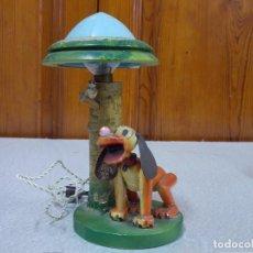 Vintage: ANTIGUA Y CURIOSA LAMPARA PLUTO -WALT DISNEY -AÑOS 50 - 60 - RARA. Lote 92040240
