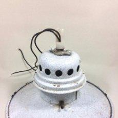 Vintage: RARA LAMPARA DE TALLER EN PORCELANA ESMALTADA - ESTILO INDUSTRIAL / VINTAGE. Lote 92872820