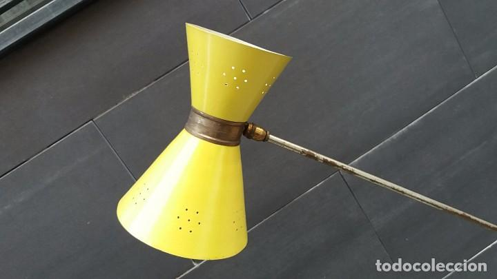 Vintage: Lámpara diábolo de pie vintage años 50 LUNEL para sillón sofá cama.....clásico diseño francés - Foto 2 - 93097185