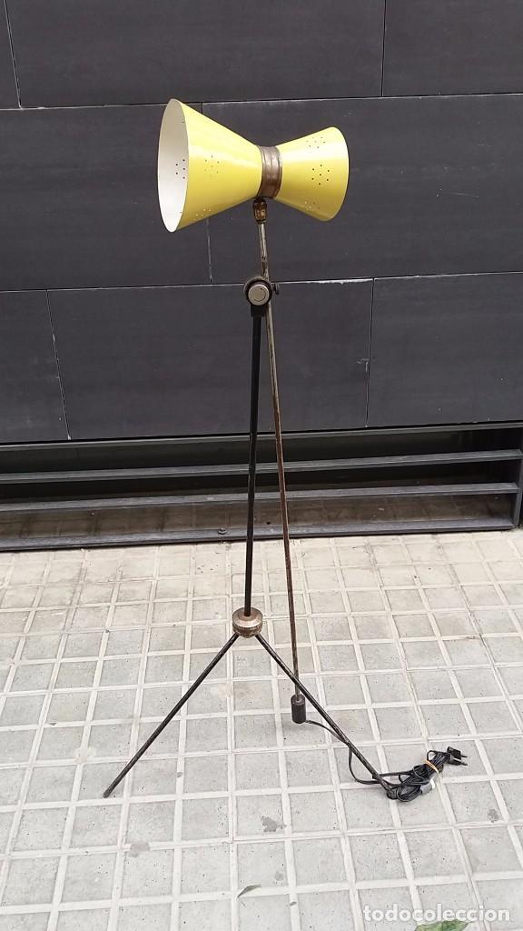 Vintage: Lámpara diábolo de pie vintage años 50 LUNEL para sillón sofá cama.....clásico diseño francés - Foto 7 - 93097185