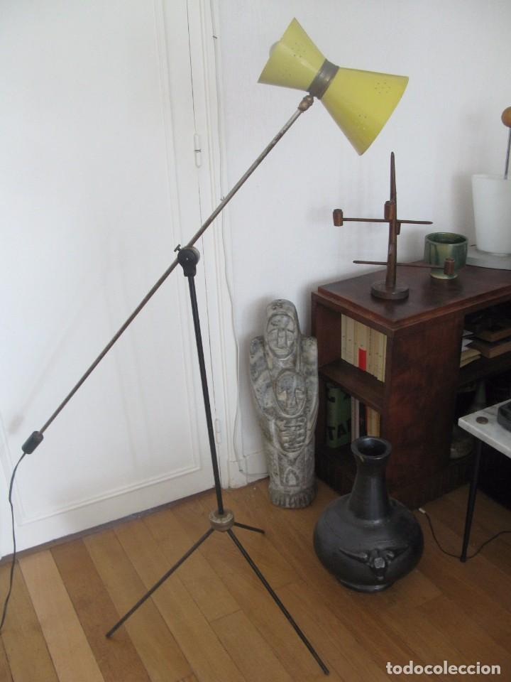 Vintage: Lámpara diábolo de pie vintage años 50 LUNEL para sillón sofá cama.....clásico diseño francés - Foto 9 - 93097185