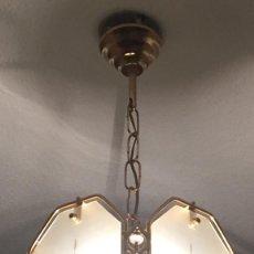Vintage: LAMPARA VINTAGE DE TECHO DE 5 CRISTALES.. Lote 93331045