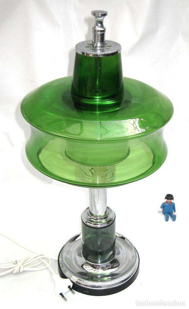 Vintage: GRAN LAMPARA SETA AÑOS 60 SPACE AGE ORIGINAL CRISTAL MURANO Y METAL CROMO DISEÑO ITALIA - Foto 2 - 93388970