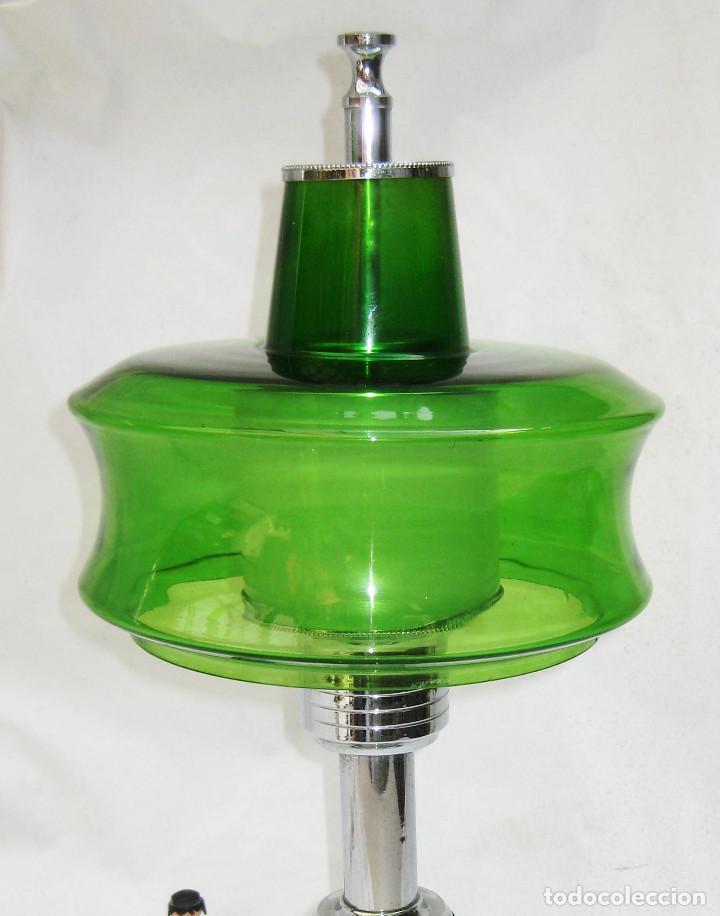 Vintage: GRAN LAMPARA SETA AÑOS 60 SPACE AGE ORIGINAL CRISTAL MURANO Y METAL CROMO DISEÑO ITALIA - Foto 4 - 93388970
