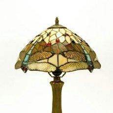 Vintage: BELLISIMA LAMPARA TIFFANY REPRO.1920 LIBELULAS AMBAR 31 Ø X 46CM MARAVILLOSA!. Lote 93590979