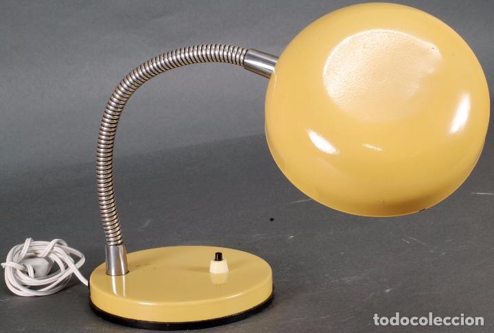 Vintage: Lámpara flexo metal cromado y brazo flexible años 70 - Foto 2 - 93683165