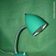 Vintage: BONITO FLEXO LAMPARA VINTAGE SOBREMESA VERDE REVISADO FUNCIONANDO PERFECTO VINTAGE AÑOS 60. Lote 93868940
