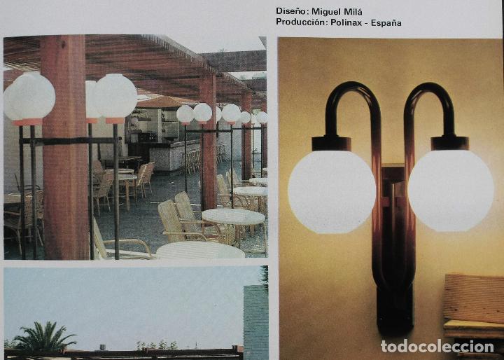 Vintage: APLIQUE MIGUEL MILÁ POLINAX GLOBO LÁMPARA PARED FAROLA VINTAGE RETRO ESPAÑA 70'S - Foto 4 - 84183076
