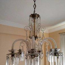 Vintage: LAMPARA CRISTAL. Lote 94804015