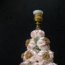 Vintage: LAMPARA VINTAGE SUPER POP ANTIGUA CERAMICA MANISES AJOS , CABLE NUEVO LISTA USO. Lote 95120135