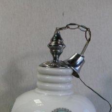 Vintage: VINTAGE LAMPARA DE TECHO EN CRISTAL Y METAL CON DIBUJOS ORIENTALES. Lote 95766659