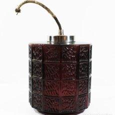Vintage: LAMPARA DE TECHO RETRO VINTAGE DE CRISTAL 15 CM ALTO 12,50 CM DIAMETRO, ¿AÑOS 70? MUY RARA. Lote 96174555