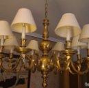 Vintage: LAMPARA DE 8 BRAZOS EN BRONCE. Lote 96598206