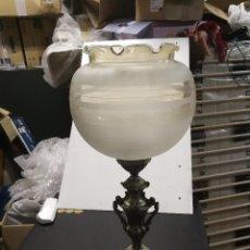 Vintage: ANTIGUA GRAN LAMPARA DE METAL CREO QUE CALAMINA. Lote 96677967