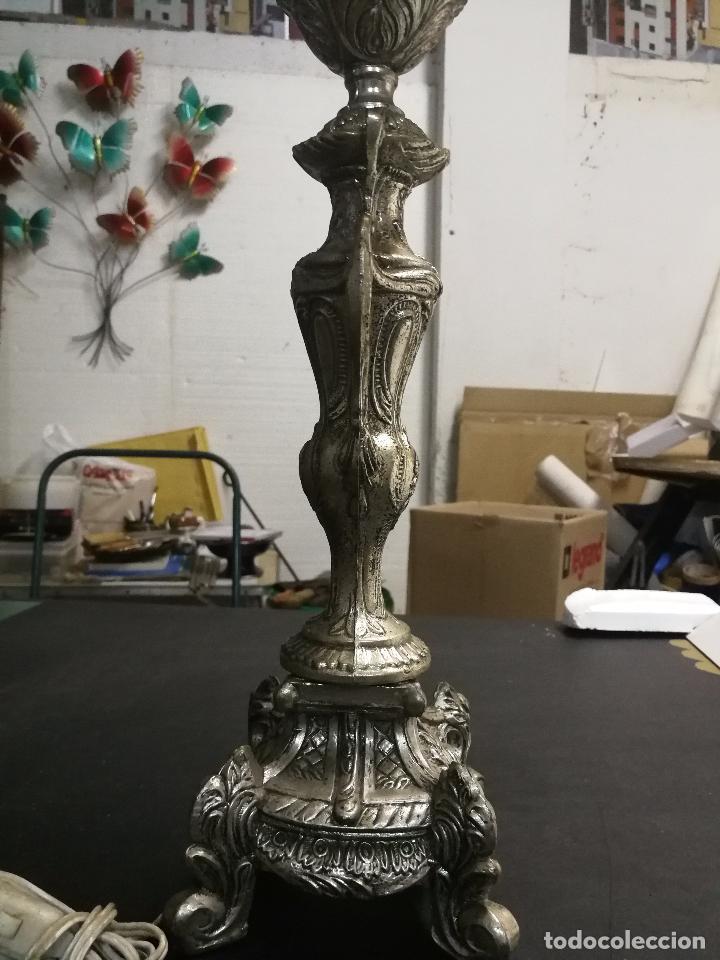Vintage: ANTIGUA GRAN LAMPARA DE METAL CREO QUE CALAMINA - Foto 5 - 96677967