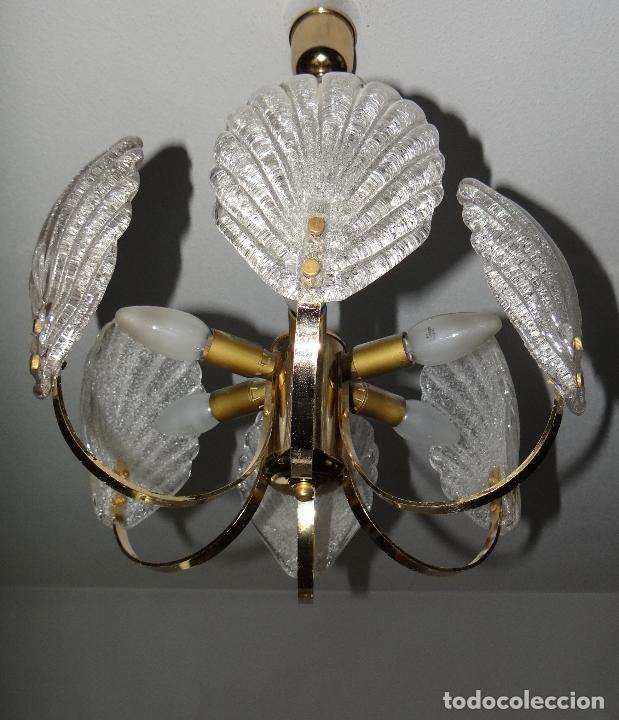 Vintage: LAMPARA VINTAGE. SEIS LUCES. CARL FAGERLUND. CRISTAL RUGIADO MURANO BAROVIER - Foto 7 - 121316884