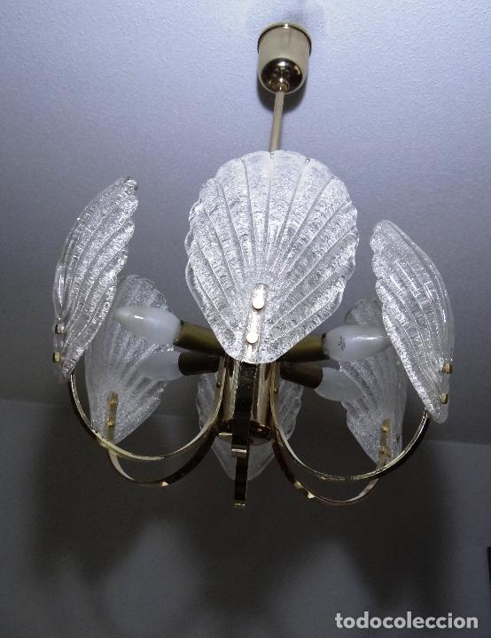 Vintage: LAMPARA VINTAGE. SEIS LUCES. CARL FAGERLUND. CRISTAL RUGIADO MURANO BAROVIER - Foto 9 - 121316884