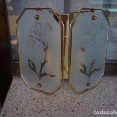 Vintage: APLIQUE PARED CRISTAL DECORADO VINTAGE. Lote 97095211