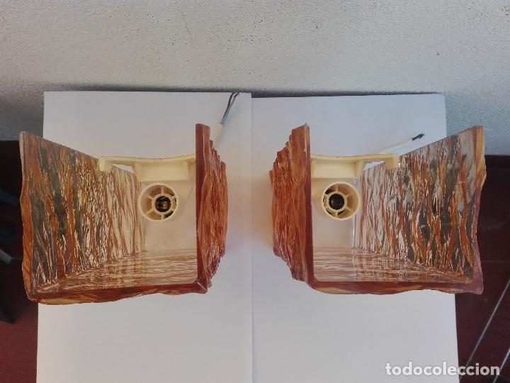 Vintage: APLIQUE LAMPARA PARED VINTAGE AÑOS 70 FRANCIA (2 UNIDADES) - Foto 9 - 97334655