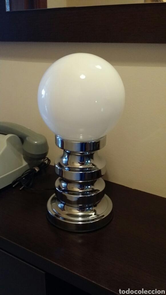 LÁMPARA DE SOBREMESA SPACE - AGE (Vintage - Lámparas, Apliques, Candelabros y Faroles)