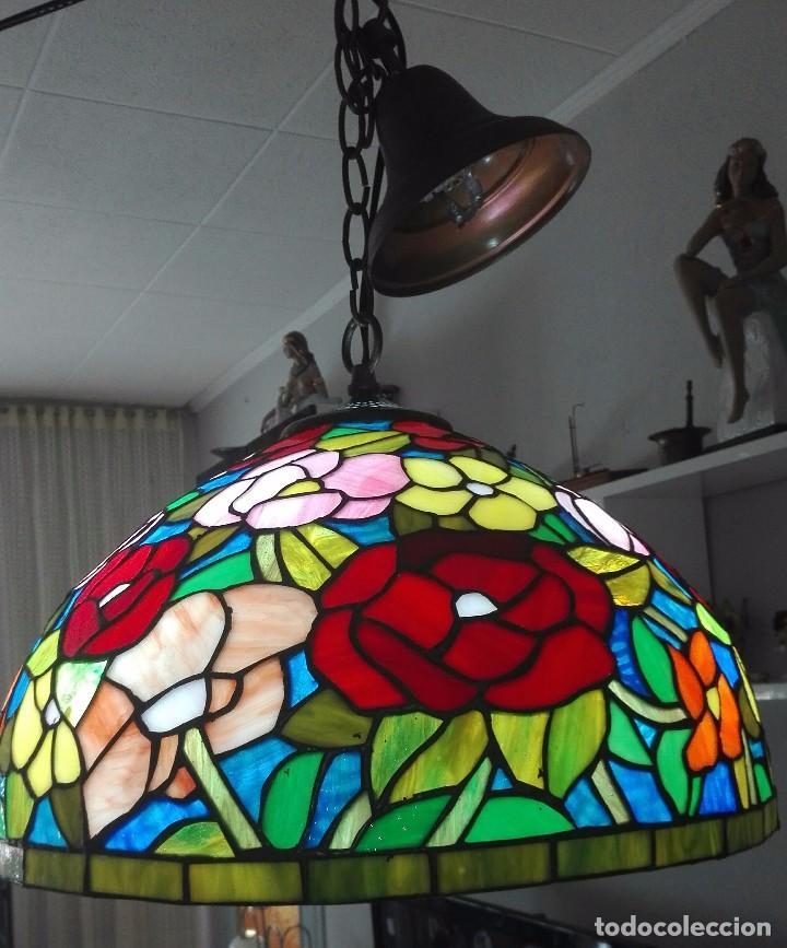 LAMPARA DE TECHO, VINTAGE (ESTILO TIFFANY) (Vintage - Lámparas, Apliques, Candelabros y Faroles)