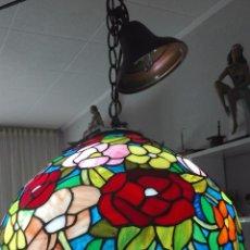 Vintage: LAMPARA DE TECHO, VINTAGE (ESTILO TIFFANY). Lote 139026944