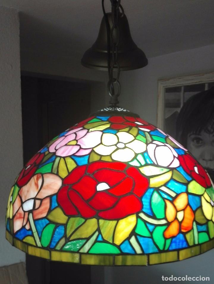 Vintage: Lampara de techo, vintage (Estilo Tiffany) - Foto 2 - 139026944