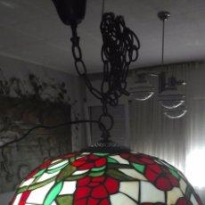 Vintage: LAMPARA DE TECHO, VINTAGE (ESTILO TIFFANY). Lote 139027012