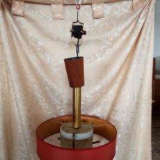 Vintage: BONITA LAMPARA VINTAGE DE TECHO EXTENSIBLE CON POLEAS PARA REGULAR ALTURA, IDEAL PARA MESA DE POKER. Lote 98192695