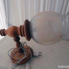Vintage: APLIQUE MADERA Y CRISTAL. Lote 99112843