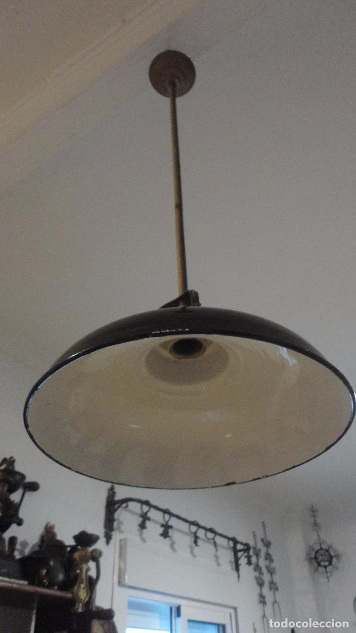 Vintage: ANTIGUA LAMPARA TULIPA METAL ESMALTADO.RETRO VINTAGE INDUSTRIAL.AÑOS 30,40 - Foto 3 - 99251503