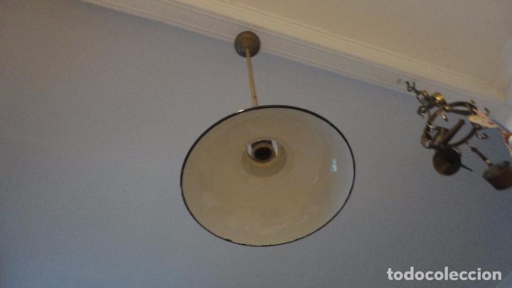 Vintage: ANTIGUA LAMPARA TULIPA METAL ESMALTADO.RETRO VINTAGE INDUSTRIAL.AÑOS 30,40 - Foto 5 - 99251503