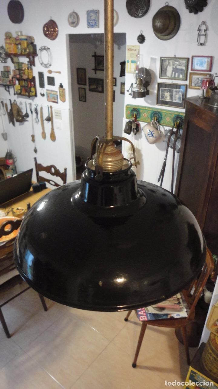 Vintage: ANTIGUA LAMPARA TULIPA METAL ESMALTADO.RETRO VINTAGE INDUSTRIAL.AÑOS 30,40 - Foto 6 - 99251503