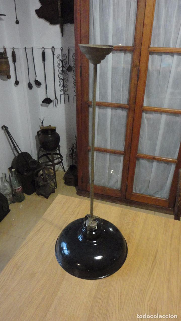 Vintage: ANTIGUA LAMPARA TULIPA METAL ESMALTADO.RETRO VINTAGE INDUSTRIAL.AÑOS 30,40 - Foto 7 - 99251503