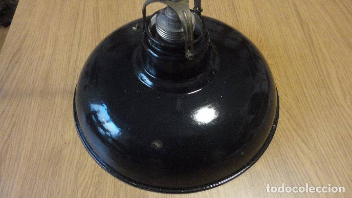 Vintage: ANTIGUA LAMPARA TULIPA METAL ESMALTADO.RETRO VINTAGE INDUSTRIAL.AÑOS 30,40 - Foto 8 - 99251503